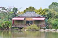 湖泊花园木屋建筑图片