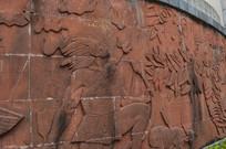 炎帝首创农业生产工具浮雕图