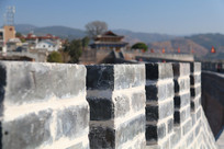 城墙虚光特写