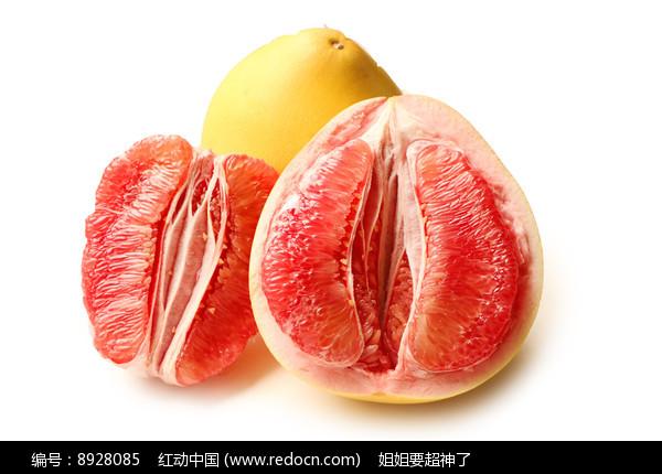 红心柚子白底图片