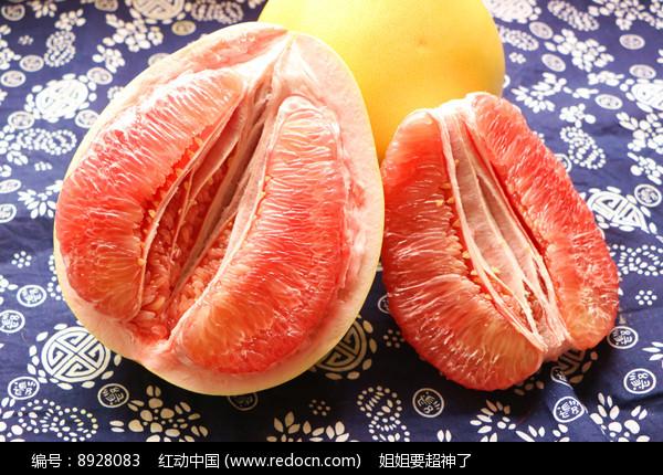 红心柚子棚拍图片