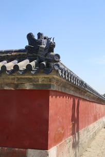 天坛琉璃瓦红墙