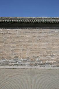 天坛青砖墙带路面背景