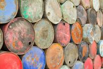 彩色油桶背景素材