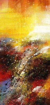 抽象油画 玄关端景壁画