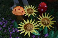 蘑菇花朵造型灯饰灯组