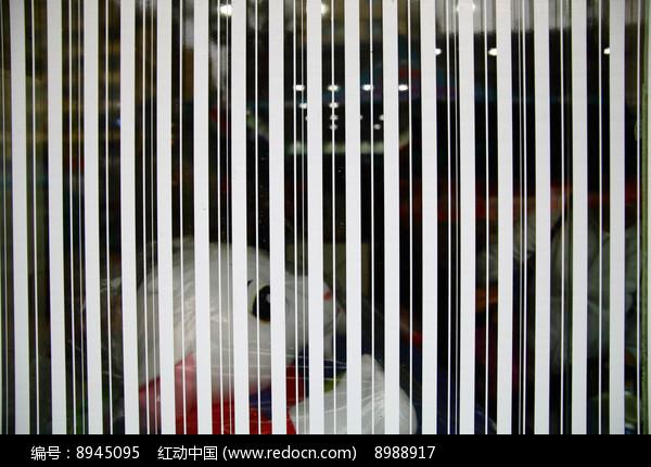 条纹形玻璃贴纸背景图图片