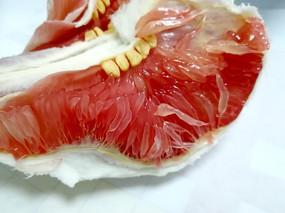 红心柚子果肉细节