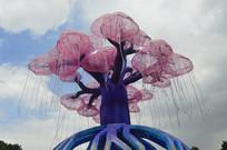 蓝天白云生命之树灯组