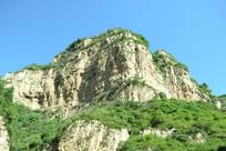 仰视山西白人岩