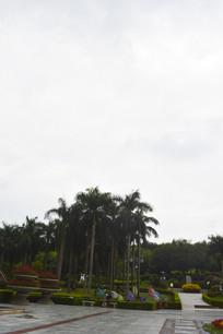 云台花园灯组及绿化景观