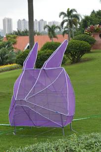 紫色兔子灯饰灯组