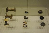 西夏文物工字型支钉瓷钩纺轮