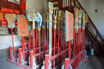 杨家祠内的古代巡游道具