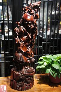 木雕弥勒佛