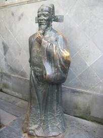 戚继光黄铜雕像