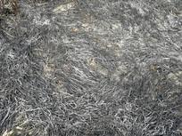 烧过稻草的草灰背景素材
