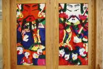 彩色人物瓷板画