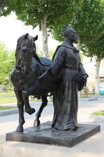 沧州州历史名名人张知白雕像