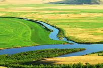 草原河流地理风光