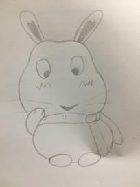 卡通风格手绘兔子