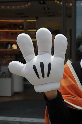 米奇卡通手套竖构图
