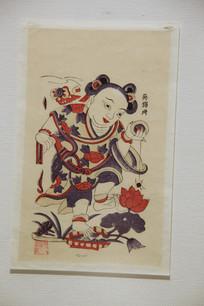 清代刘海戏金蟾彩色图画
