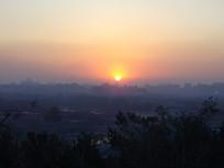 北京的城市夕阳