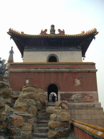 冬天的北京颐和园建筑