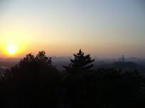 冬天里的北京夕阳