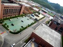 高视角拍摄贵州建校