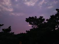 海边傍晚的天空