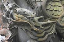 九龙柱雕塑图案