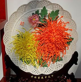 菊花浮雕高清图