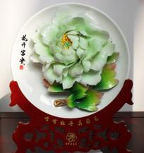 牡丹花雕刻台摆