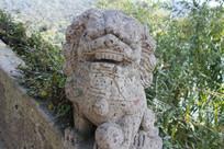 湘湖桥上石狮子