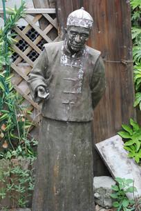 杭州小河直街茶馆人物雕塑