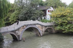 杭州小河直街小河与拱桥