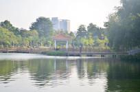 湖泊亭子风景