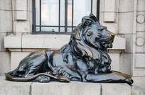 狮子铜雕塑
