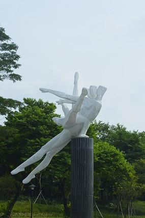 广州体育馆运动员雕塑