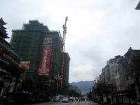 建设中的黎平农村信用社大楼