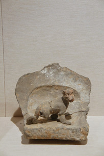 北朝生肖俑陶猴俑
