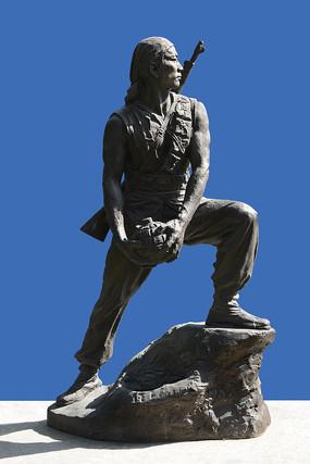 雕塑抗日游击队