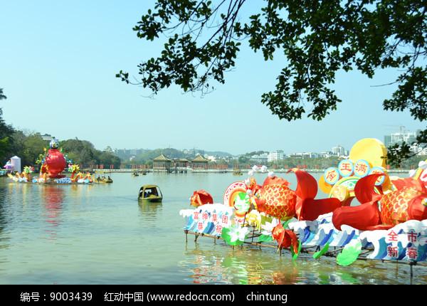 惠州西湖的花灯图片