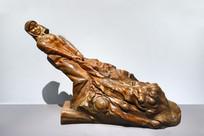木雕海带丰收