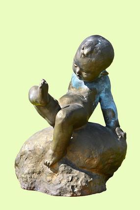 铜雕小男孩