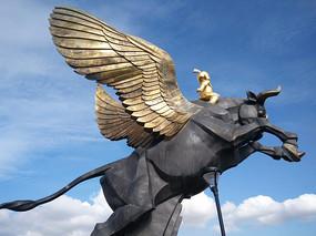 童牛岭雕像