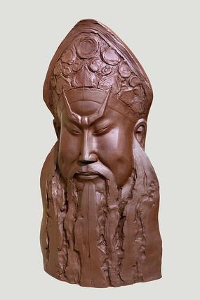 紫砂雕塑京剧人物