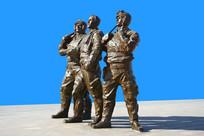 飞行员铜雕